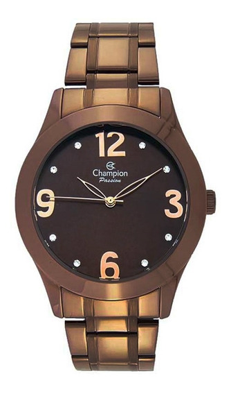 Relógio Feminino Champion Analógico Ch24268r - Marrom