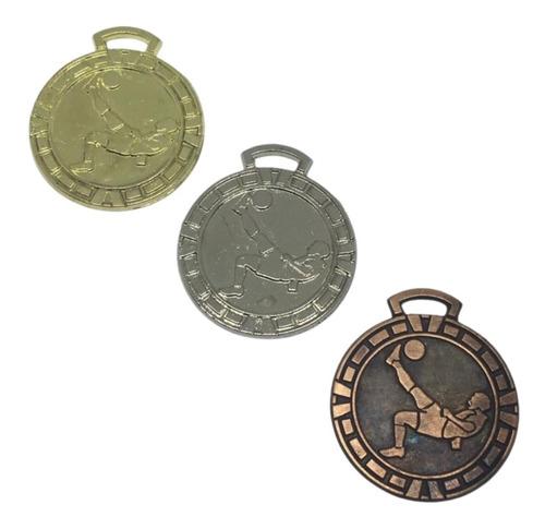 Imagen 1 de 9 de 100 Medallas Deportiva 3,5cm Fútbol Futbol