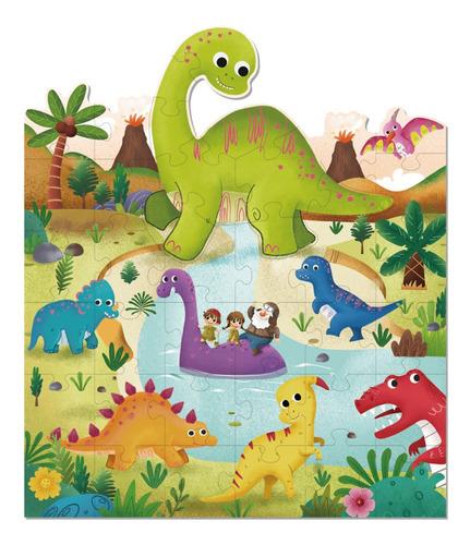 Imagen 1 de 4 de Puzzle Del Tierno Dinosaurio