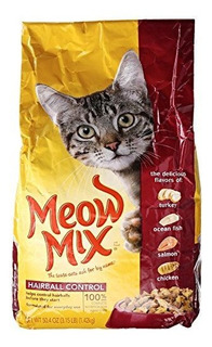 Meow Mix Cat Food, Control De Bola De Pelo, 3.15 Lb