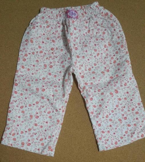 Pantalon Forrado Flores Nena Usado