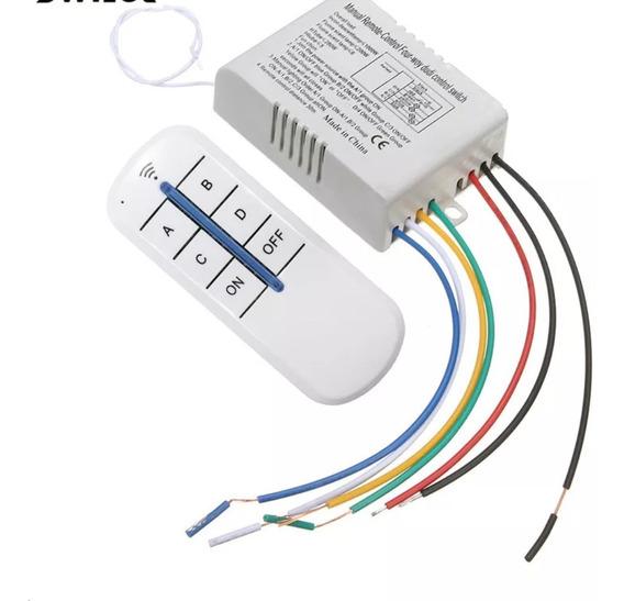 Controle Remoto Sem Fio 4 Vias Iluminação 110v Casa