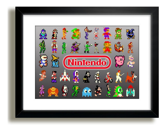 Quadro Super Mario Nintendo Game Personagens Decor Paspatur