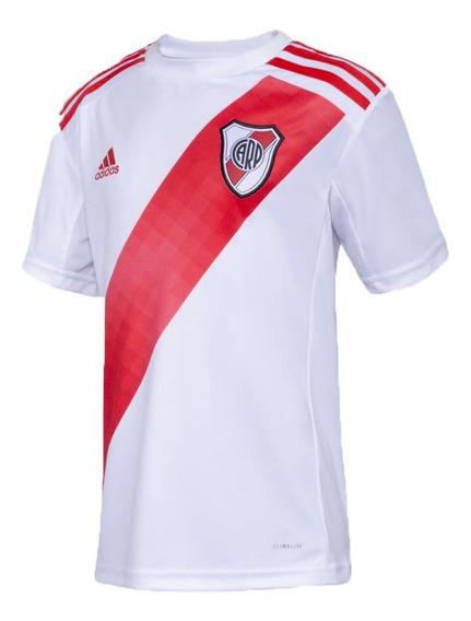 Camiseta adidas Niño River Home 19 Original Bco/roj