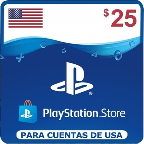 Playstation Store Gift Card Psn 25 Usd Dólares Usa   Ps4 Ps5