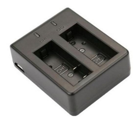 Carregador Duplo Bateria Sj4000 Sj5000 Sj6000 Usb Sjcam