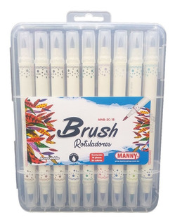 Rotuladores Lettering 18 Plumones Con 36 Colores Brush