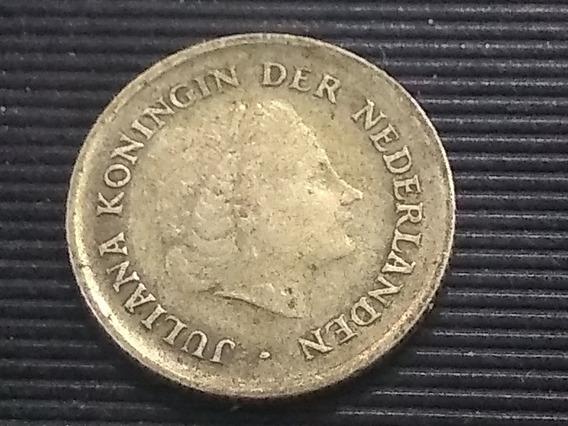 Moneda Antillas Holandesas ¼ Florines 1962 Plata Lote 996
