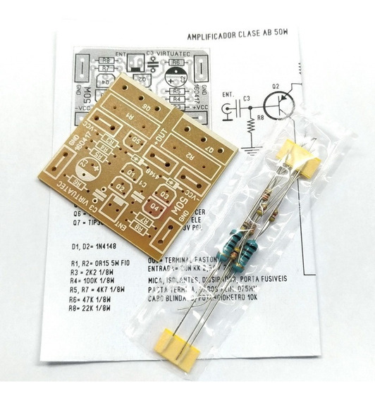 Placa P/ Montar Micro Amplificador 50w