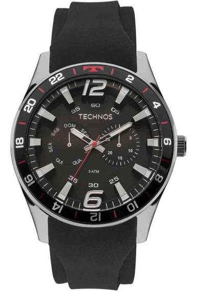 Relógio Technos Racer Masculino Prateado Silicone 6p25bn/8p