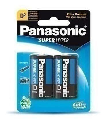 Pilha Panasonic Comum Grande D Com 2 Unidades En 27619