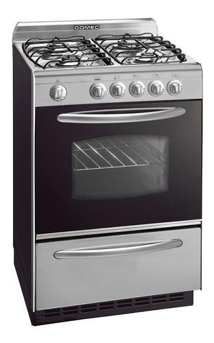 Cocina Domec CXUPLEV multigas 4 hornallas  plateada 220V puerta  con visor