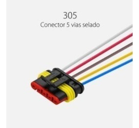 Chicote 150mm C/ Conector Selado 5 Vias Sinalsul