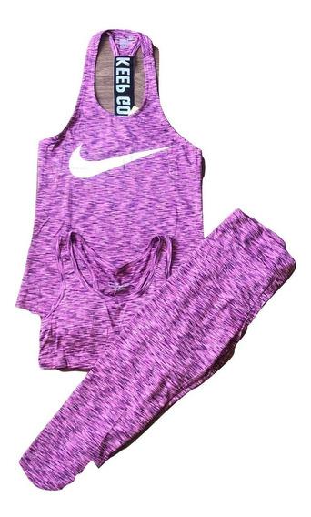 Conjuntos Deportivos Tres Piezas Nike Y adidas Para Dama