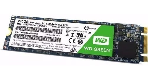 Hd Ssd M.2 240gb Sata Iii 6 Gb/s Green Wd 2047