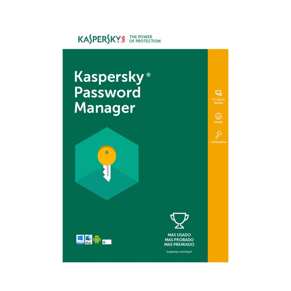 Licencia Kaspersky Cloud Password Manager 1 Dispositivo 1año