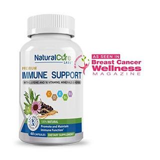 Premium Immune Support + L-lisina Y 16 Vitaminas Minerales Y