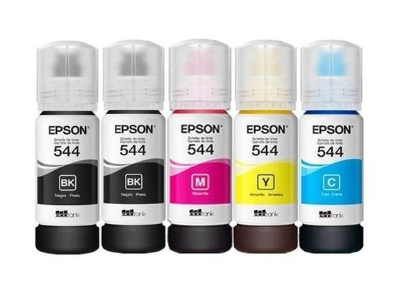 Kit 5 Tintas Epson Original T544 L3110 L3150