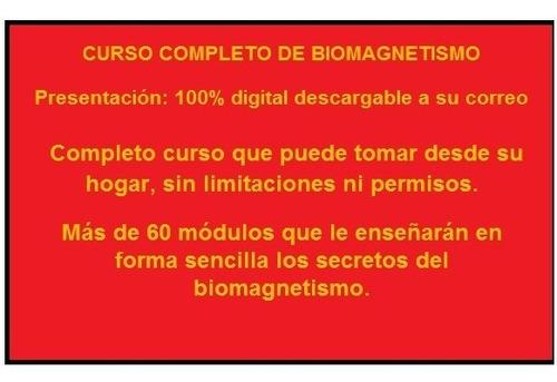Libro De Estudio Curso Par Biomagnético, Biomagnetismo.