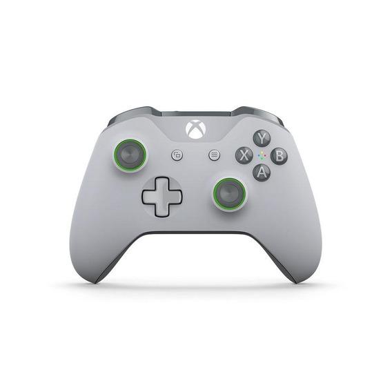 Controle Microsoft Cinza Claro Cinza E Verde Xbox One S
