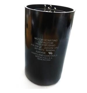 Capacitor De Arranque 216-259mfd 220v Cnr-4230 (2 Piezas)