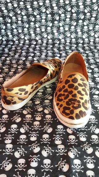 Yate Sola Baixa De Onça Deborah Shoes