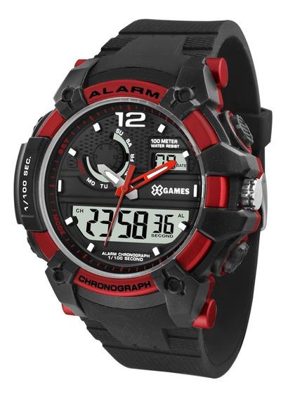 Relógio X-games Masculino Anadigi Xmppa270 Vermelho Oferta