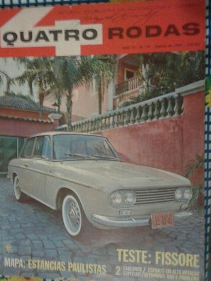 Revista Quatro Rodas Agosto 1964