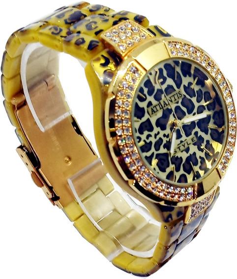 Relógio Atlantis Feminino Camuflado G3176