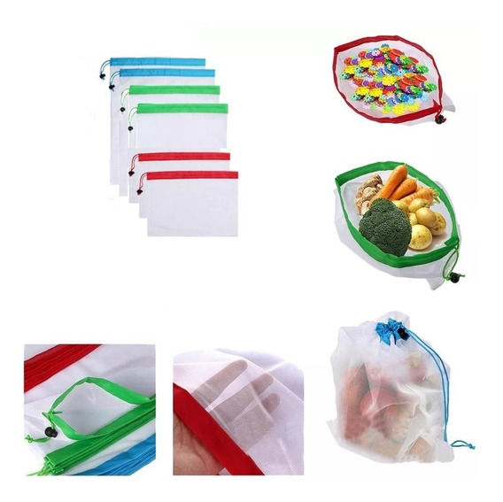 Bolsas De Compras Verduras Reutilizable Plegable Ecológica
