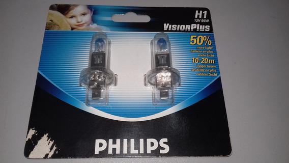 Lampada Vision Plus (par) Mod. H1 50% + Luz Original Philips