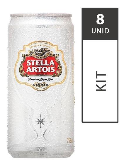 Cerveja Stella Artois Lata 269ml - Com 8 Unidades