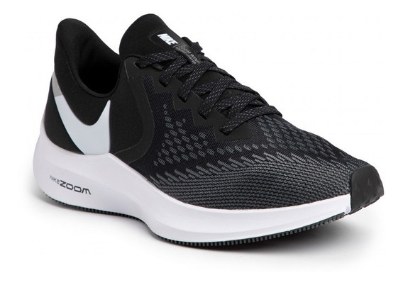 Zapatilla Running Nike Zoom Winflo 6 Negra Hombre Aq7497-001