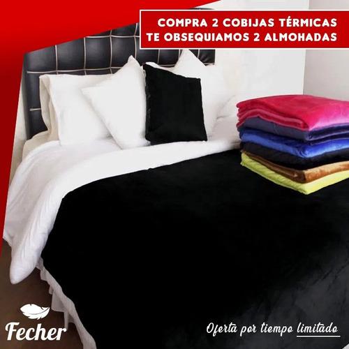 Cobijas Térmicas X 2 Unidades + 2 Almohadas Hoteleras 50x70