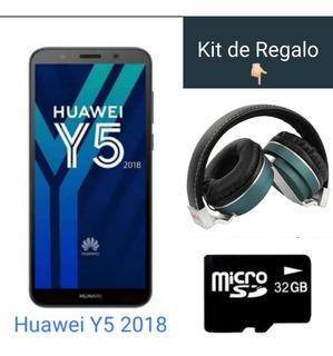 Celular Huawei Y5 Azul Sin Cargador + Memoria + Audifonos