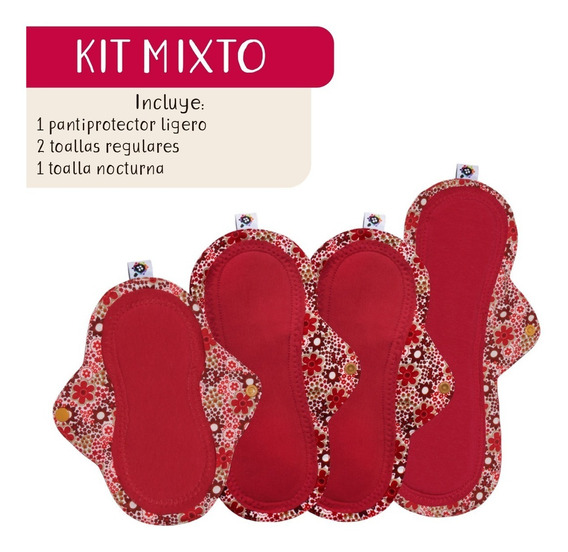 Kit Mixto De Toallas Femeninas Ecológicas Payols