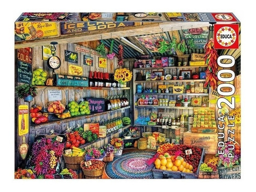 Puzzle Educa X 2000 Tienda De Comestibles Art 17128