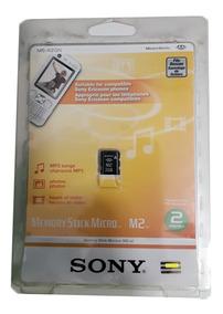 Cartão De Memória Sony Original 2gb M2 Sem Adaptador