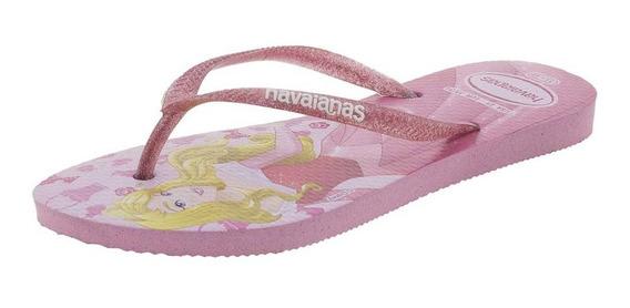 Chinelo Infantil Feminino Slim Princesas Havaianas Kids - 41
