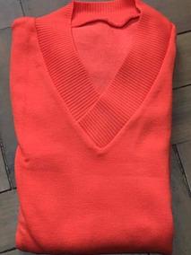 Blusa De Frio Tricot Sueter Liso Gola V - Outono E Inverno