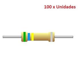 100 Unidades 47k Ohm Resistor 1/4w 5% Arduino Esp8266 Esp01