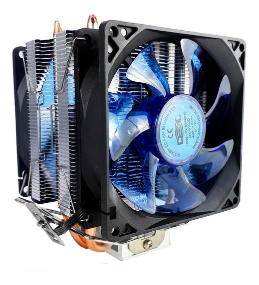 Cooler Duplo Dual Fan Cpu Pc Amd 775 1150 1151 Am3+