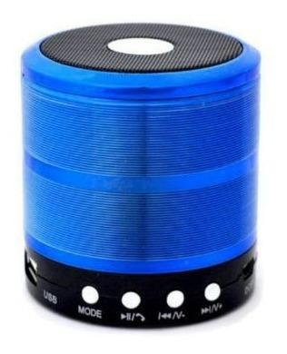 Caixa De Som Bluetooth Recarregável Mini Portátil Azul