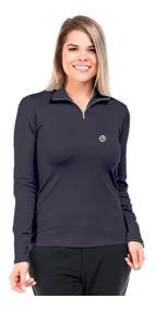 Camisa Térmica Para Frio Feminina Gola Alta Com Proteção Uv