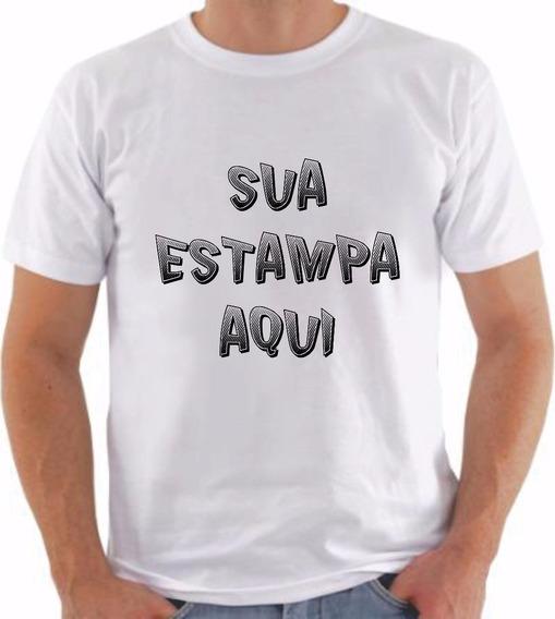 Camiseta Personalizada Qualquer Tema Malha Pp Fio 30.1