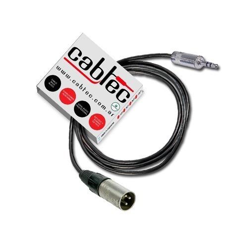 Cable Xlr Canon Macho Miniplug Stereo Neutrik Rean 9m Cabtec