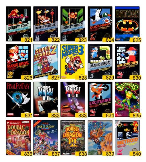 10 Placa Decorativa Contra Konami Nintendo Nes Videogame Mdf