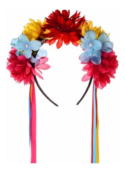Diadema Disfraz Día De Muertos Diseño Flores
