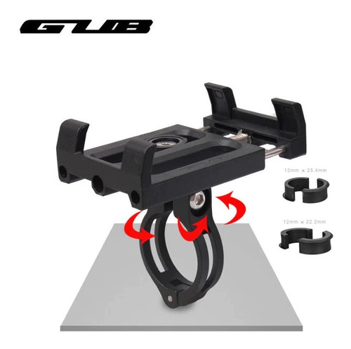 Imagen 1 de 5 de Porta Celular Bicicleta Moto Gub Plus 3 Alum Rotable - Racer