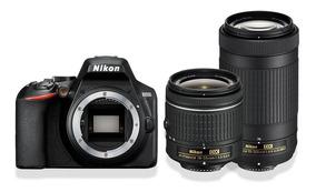 Nikon Reflex D3500 Kit 18-55 Vr+ 70-300 Af P + Memoria 32 Gb